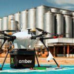 Entrega de cerveja por drone? Ambev faz os primeiros testes